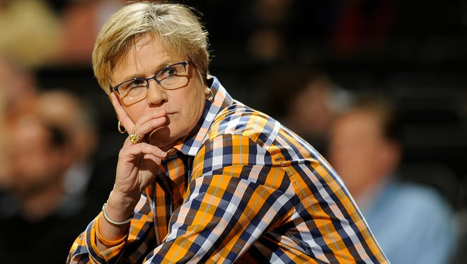 Tennessee coach Holly Warlick watches during the third quarter against Vanderbilt on Jan. 5, 2017, at Memorial Gym in Nashville.