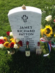 The grave of U.S. Army Ranger Staff Sgt. James Patton
