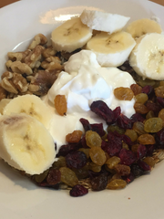 The yogurt and granola at the Linden Street Cafe in