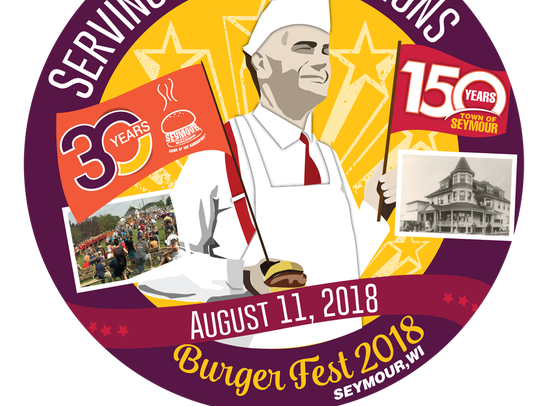 The official logo for this year's Burger Fest in Seymour.