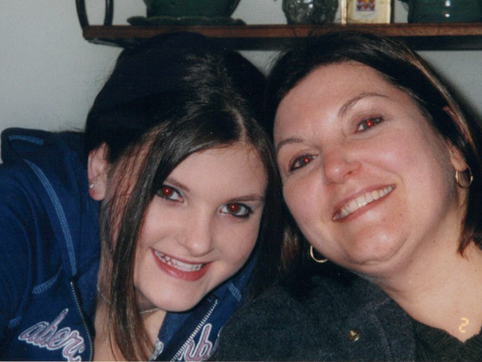 Nikki and her mother in 2005.