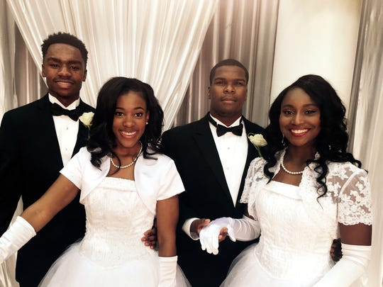 Johnny Lee Ruffin III, from left, Ashley Briana Coble, Chance Taylor and Bria Neshae Barnes were at Links Cotillion.