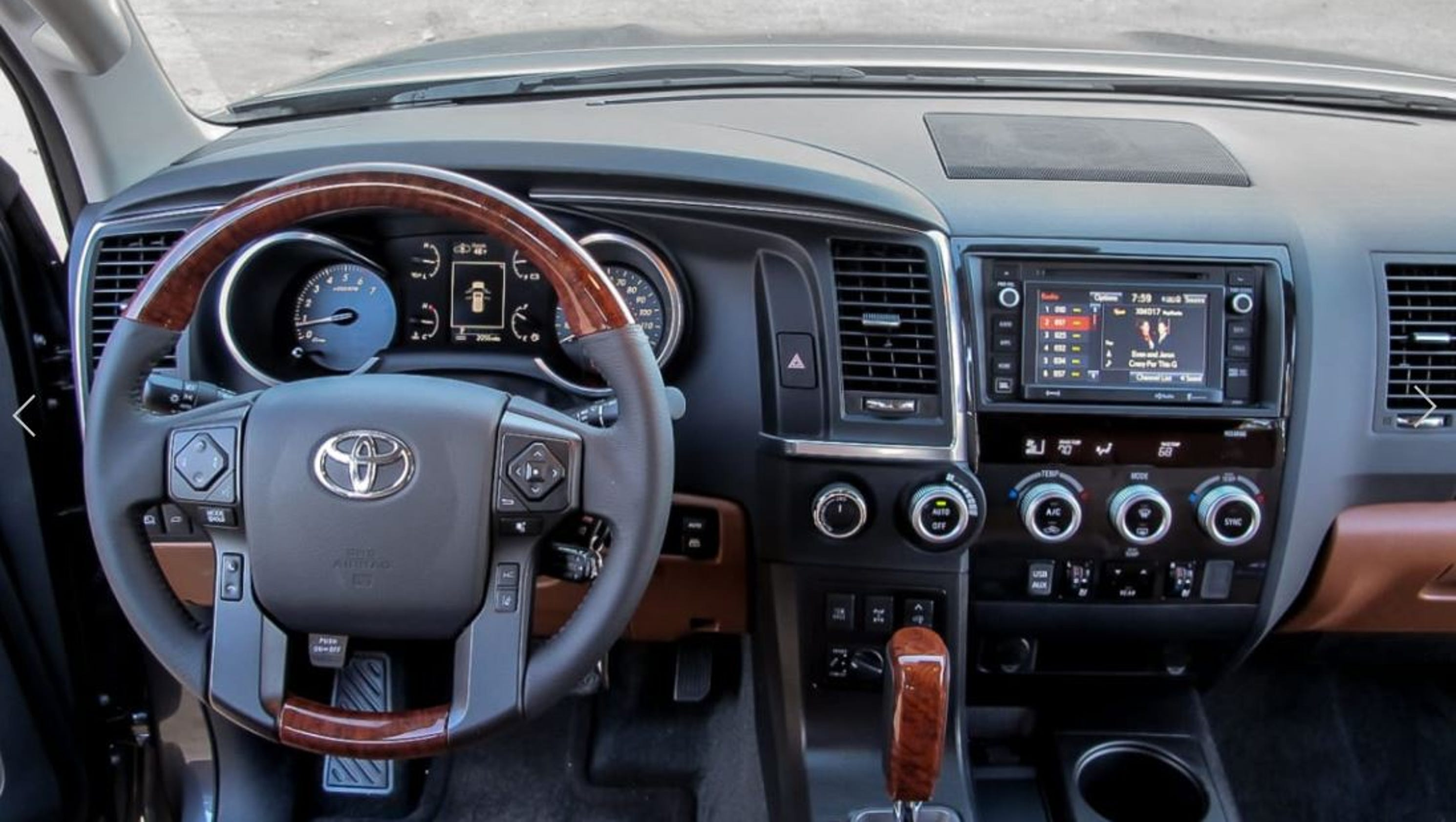 automotive toyota reviews sequoia top review motorist interior