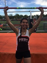 Pascack Hills' Hannah Figueroa placed second in the