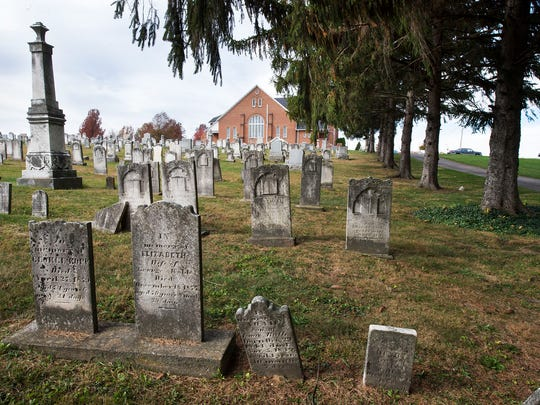 A cemetery sits near Trinity (Roth's) United Church of Christ in Jackson Township. Trinity celebrated 250 years in 2015.