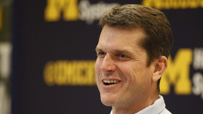Michigan head football coach Jim Harbaugh.