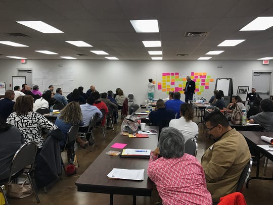 About 70 people attended a Homeless Strategic Plan