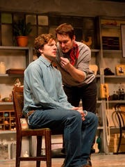 """William Connell (left) and Bill Dawes in """"Nureyev's Eyes"""" at George Street Playhouse."""