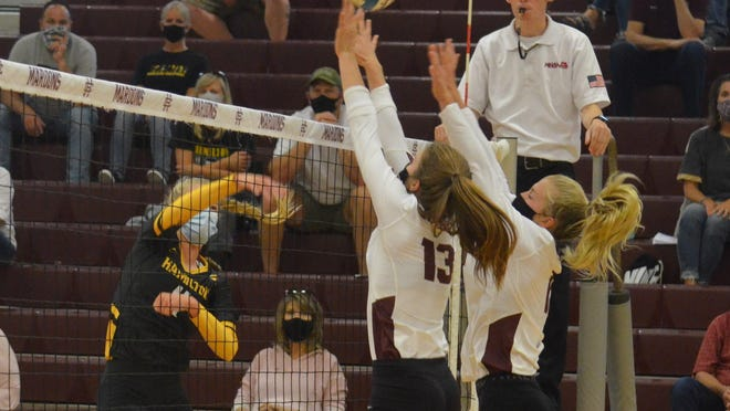 The Hamilton and Holland Christian volleyball teams will face off in the OK Green tournament.