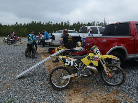 Riders get ready to hit the trails Saturday at the Clear Creek OHV (Off Highway Vehicle) trails in Milton.