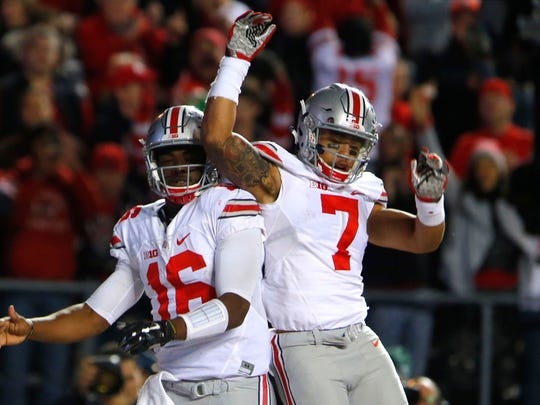 Ohio State quarterback J.T. Barrett and receiver Jalin