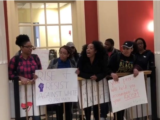 Miami University students and BAM 2.0 organizers protest