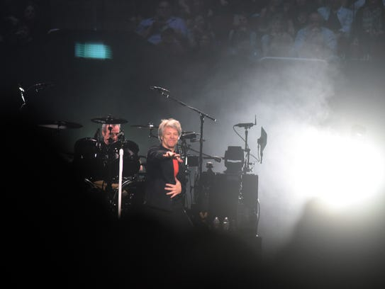 Rock & Roll Hall of Fame 2018 inductees Bon Jovi performing