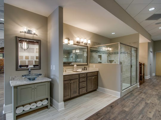 Bathroom options at the Drees Design Center in Brentwood.