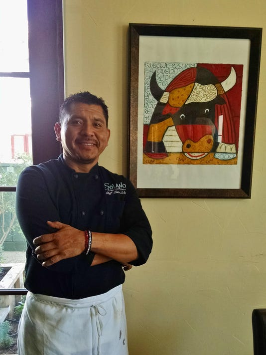 TDS NBR EV Food 1016 Chef Owner Paco Solano by bull fight artwork