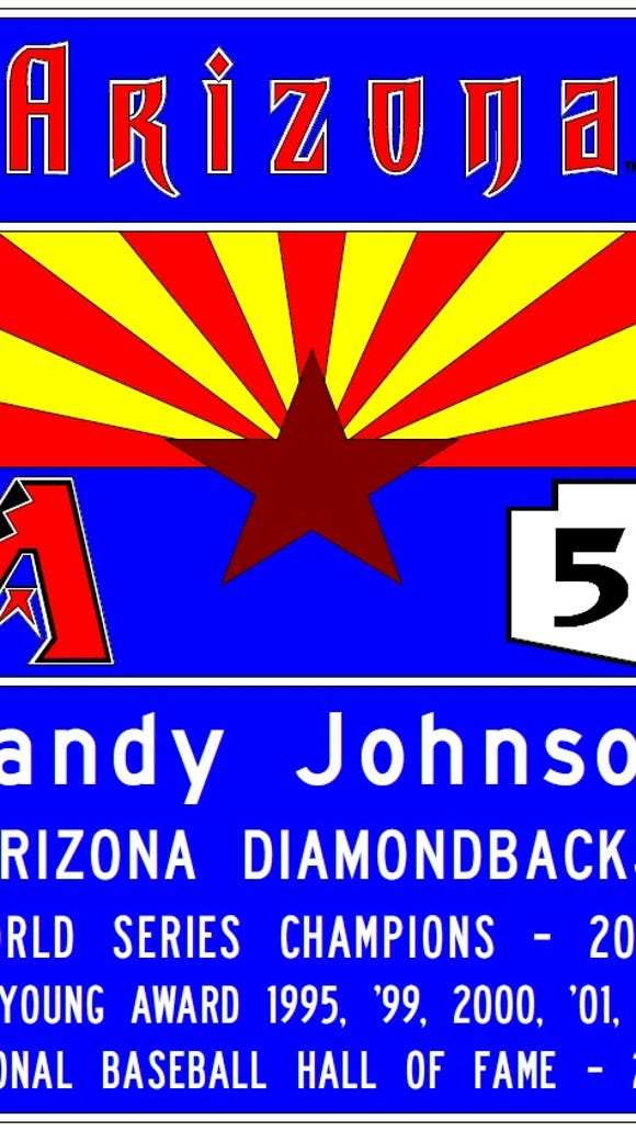 A rendering for a Randy Johnson Arizona freeway sign.
