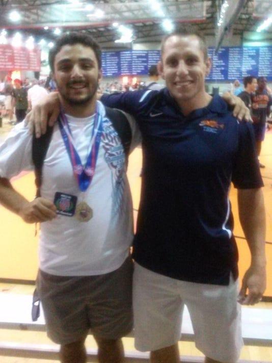 Chris and Coach McMath