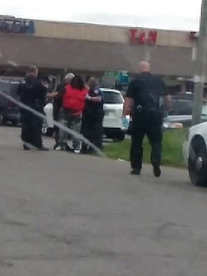 Video has emerged showing a portion of Terrell Day's interaction with first responders