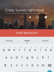 Starting a broadcast on Periscope