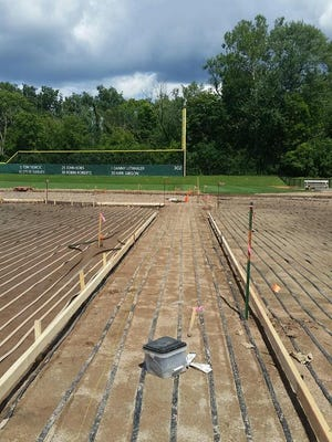 A new heating system under the infield at Kobs Field helped play start earlier.