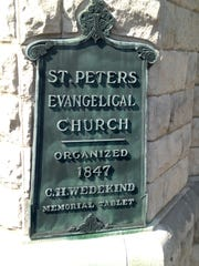 A plaque at St. Peter's United Church of Christ, at 1225 W. Jefferson St., says the original church was founded in 1847.