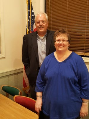 Shown are guest speaker Bill Cochran and Regent Paige Dooley at the December meeting of the Toccoa Chapter of the DAR.