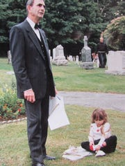 Robert (Bob) Kochka dug graves by hand in West Milford cemeteries for 20 years. He is pictured giving a cemetery tour at St. Joseph Cemetery in 1990.