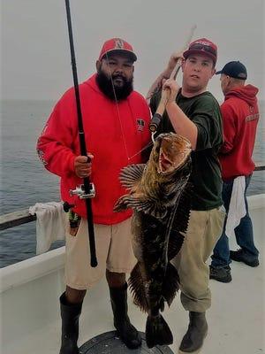John Quijada caught an 18-pound lingcod aboard the New Hustler.