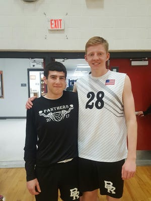 Bridgewater-Raritan volleyball captains Tim Schwed (to the left) and Jack Whelan hope to continue the program's winning tradition.