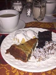 Vegan dessert at the Benson home in Ringwood