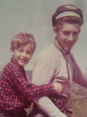 Don Koons and his father, Owen, during happier times.
