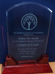 Chris Julian was the first recipient of the Klee Foundation's