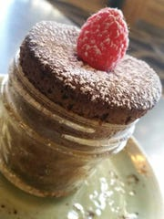 Chocolate souffle at Roost in Greenville on Feb. 28