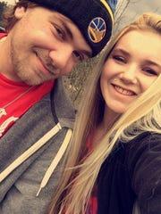 Jordan Cooper with fiance, Zoie Palmer