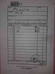 The receipt that Steven Paulino received from Richard