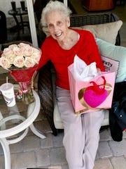Cora Meyer on Valentine's Day 2017.