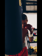 Chaise Nelson trains for his first featherweight title belt.