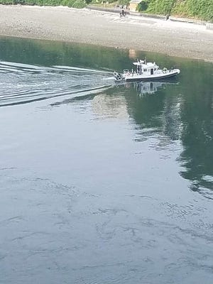 A juvenile was injured after jumping off the Manette Bridge Wednesday. A boat from PSNS transported the boy to the Bremerton Marina to meet paramedics.