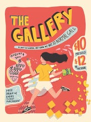 The Gallery will host its second all-female artists art show on Saturday, August 4, 2018. Flyer design by artist Bartola Borja.