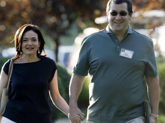 Facebook COO Sheryl Sandberg and her late husband Dave