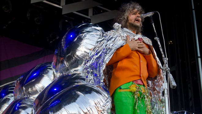 Wayne Coyne of the Flaming Lips performs as part of the Gentlemen of the Road Festival in Seaside Heights on  June 6.