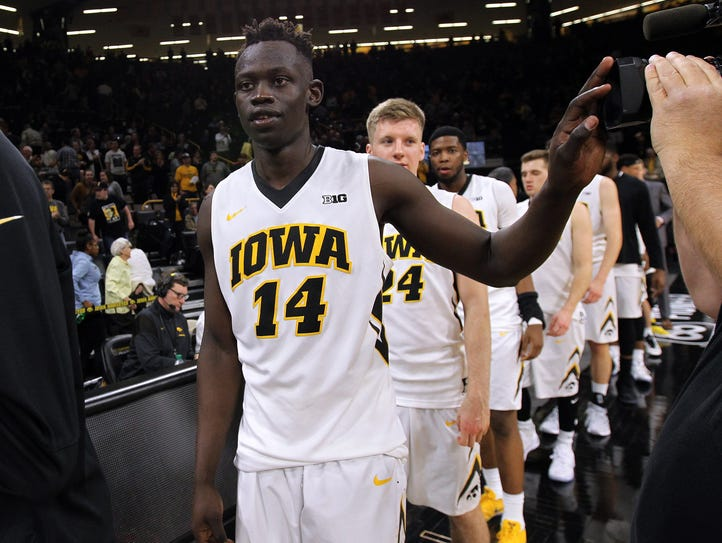 Peter Jok averaged 19.9 points for the Hawkeyes last