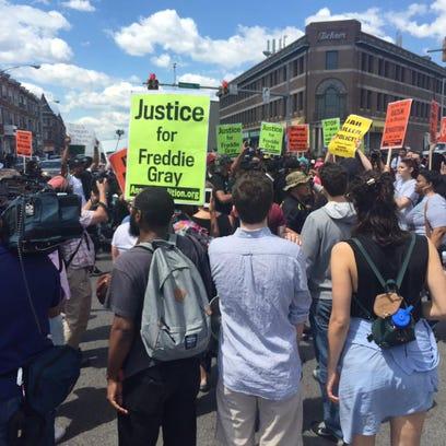 Saturday protests in Baltimore
