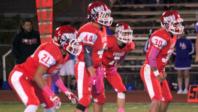 Cobre's linebacking corp will have its hands full against Hatch's running game Friday night.