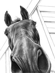 Equine art lovers can find works like this and more at next weekend's exhibit.