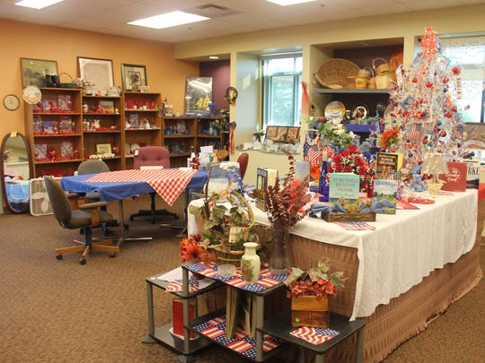 The thrift store inside the Tularosa Senior Center stands decorated for the Fourth of July. Donated items are sold in the store to help continue funding the facility and their meals program.