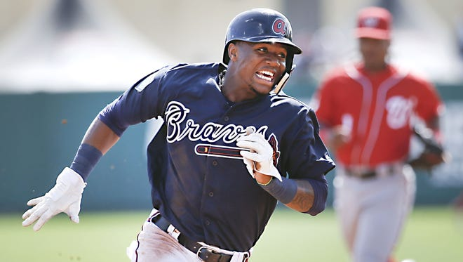 Braves outfielder Ronald Acuna may start the season in the minors, but it won't be because of his .412/.512/.618 slash line in his first 41 spring plate appearances.