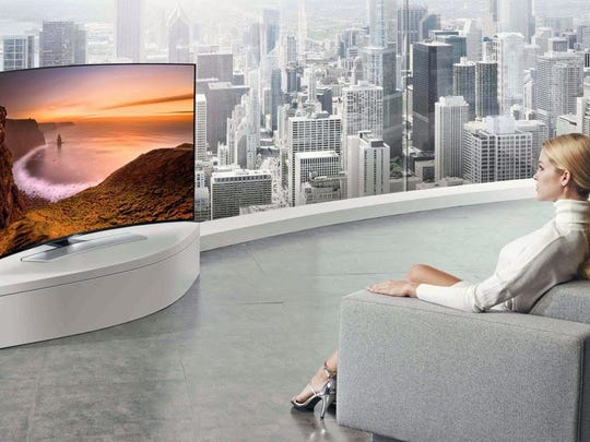 Leading television manufacturers like Samsung have begun selling curved TVs that bend towards the user – just like the screen at your local movie theater.