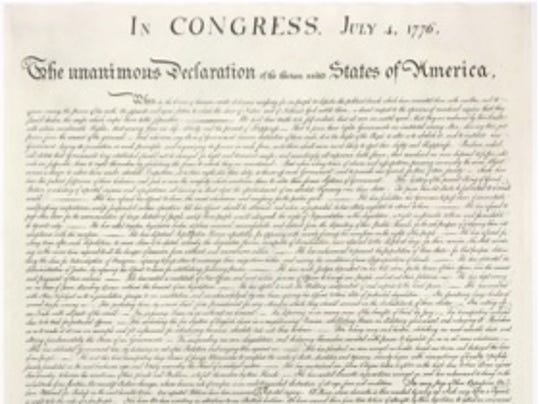 Unalienable Rights Declaration Independence