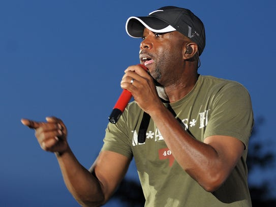 Darius Rucker performs at the The Freeman Stage at